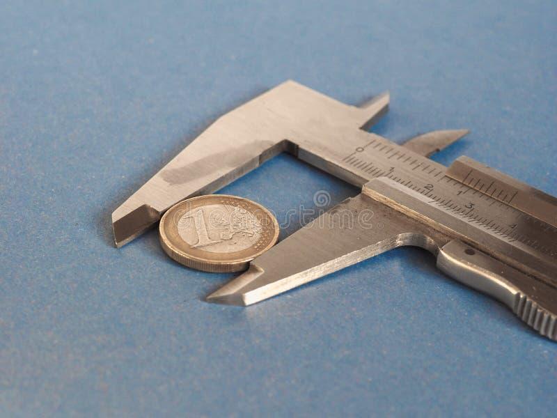 Herramienta de medición del calibrador fotografía de archivo
