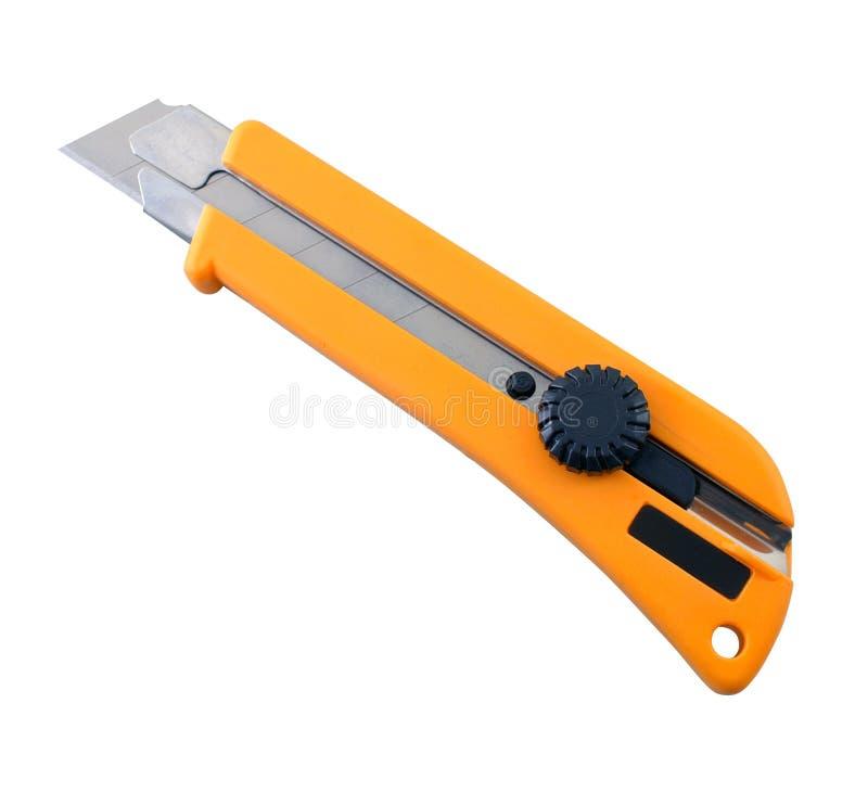 Herramienta del cuchillo de X-acto aislada en el fondo blanco fotografía de archivo libre de regalías