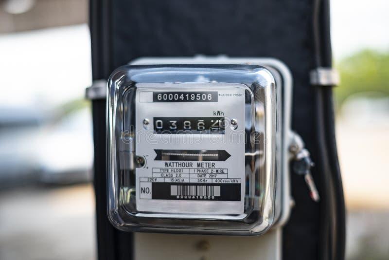 Herramienta eléctrica del metro eléctrico del kilovatio-hora imagenes de archivo
