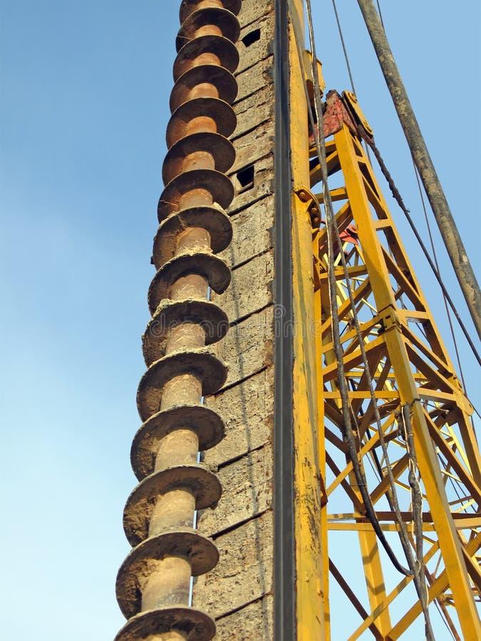 Herramienta industrial oxidada, concepto de la construcción fotografía de archivo