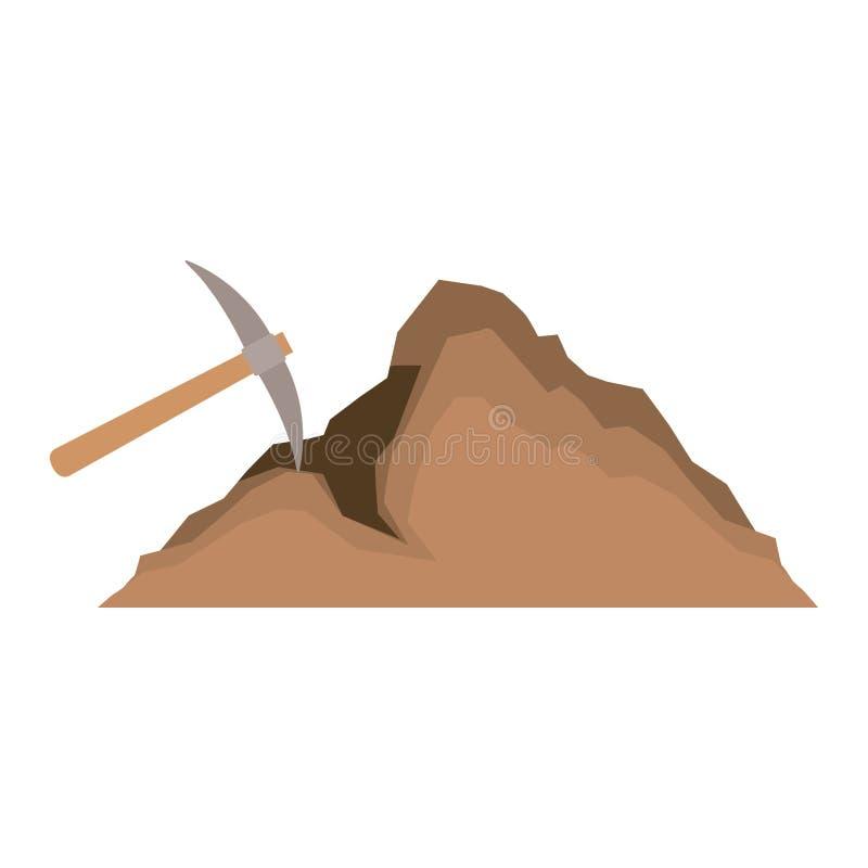 Herramienta minera de la selecci?n con la mina stock de ilustración