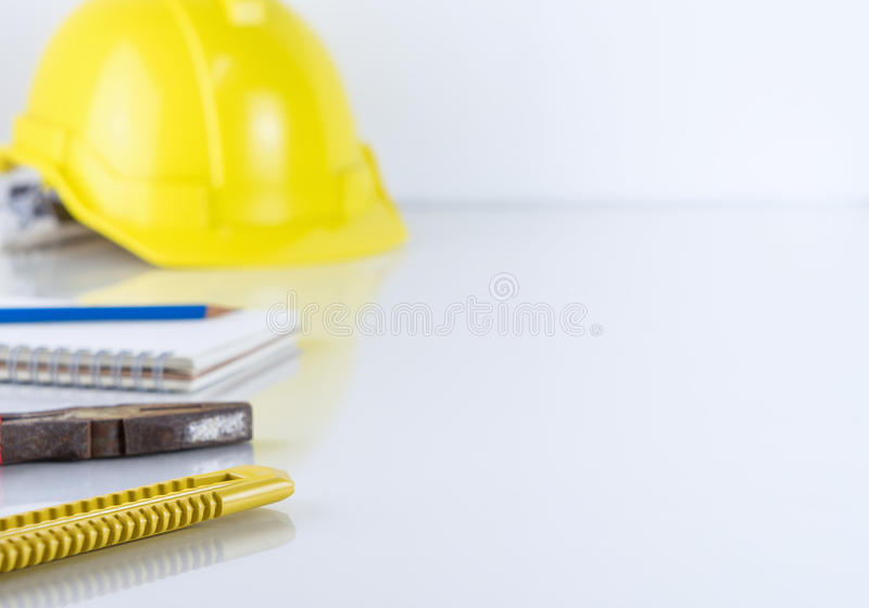 Herramientas caseras de la renovación en blanco imagen de archivo