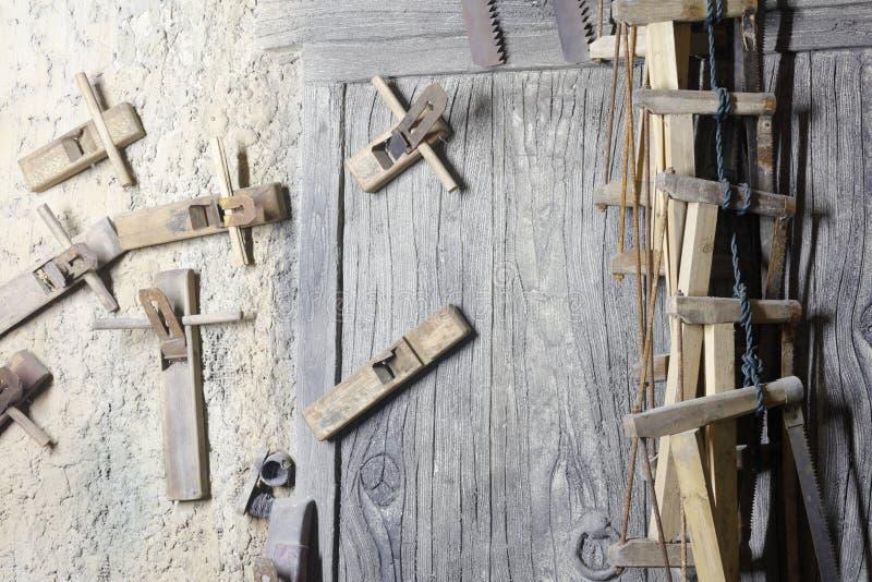 Herramientas chinas antiguas de la carpintería, adobe rgb imágenes de archivo libres de regalías