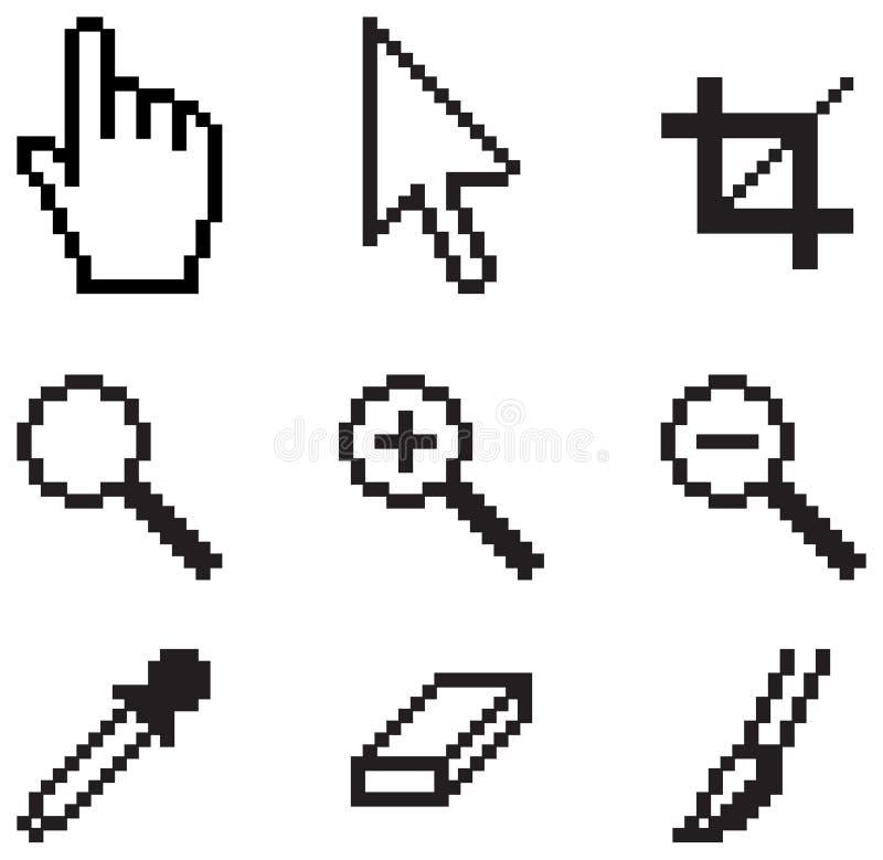 Herramientas clásicas de la pantalla stock de ilustración