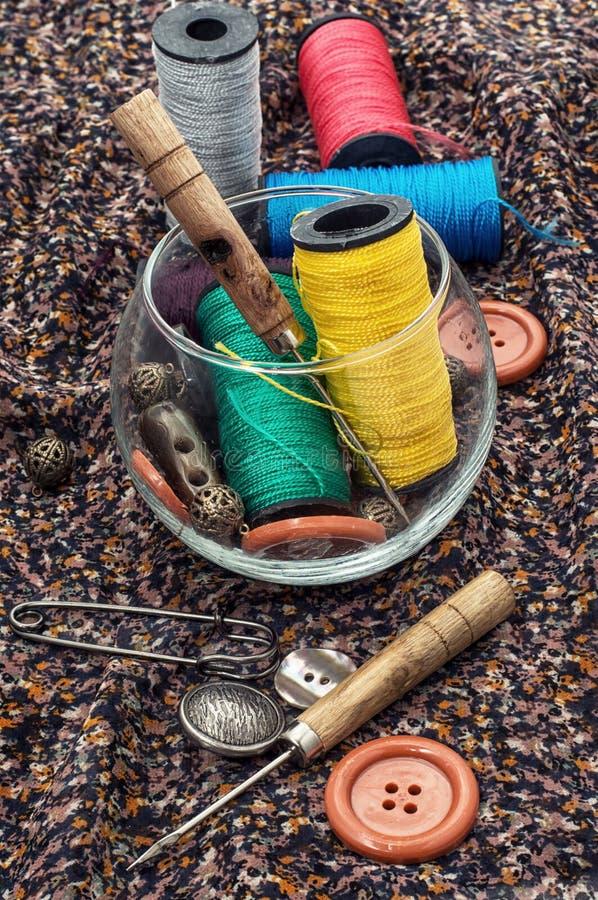 Herramientas de costura foto de archivo libre de regalías