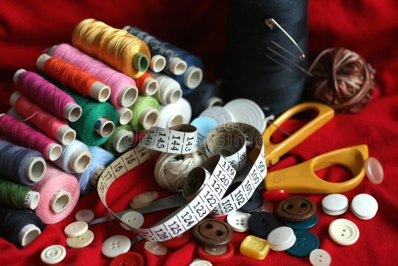 Herramientas de costura fotos de archivo libres de regalías