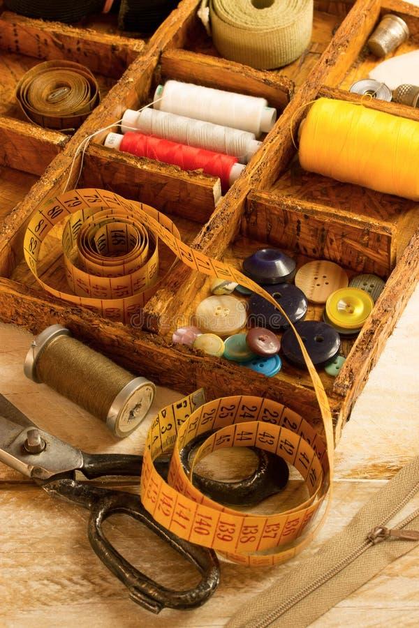 Herramientas de costura imagenes de archivo