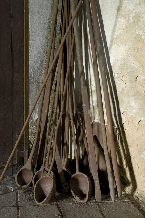 Herramientas de cristal oxidadas foto de archivo libre de regalías