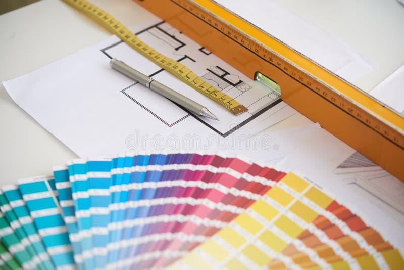Herramientas de diseño interior fotos de archivo