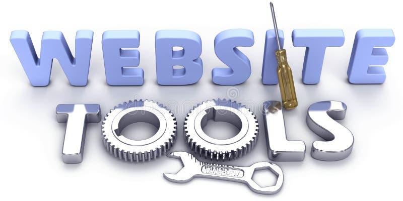 Herramientas de Internet del web del desarrollo del sitio web stock de ilustración