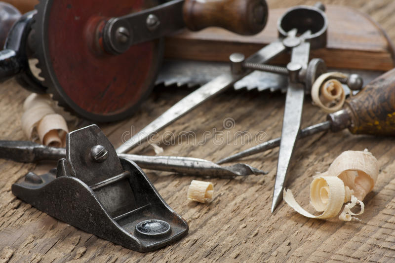 Herramientas de la carpintería foto de archivo libre de regalías