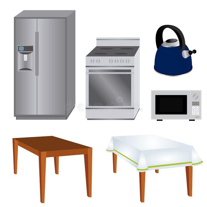 Herramientas de la cocina ilustración del vector