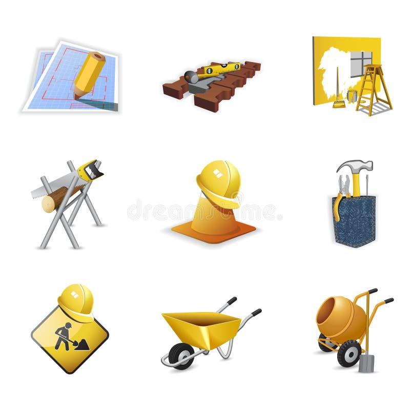 Herramientas de la construcción stock de ilustración