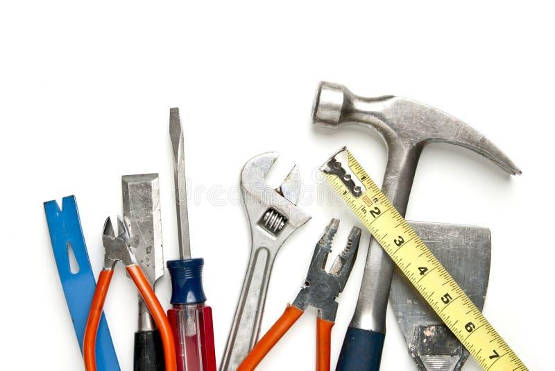 Herramientas de la construcción en pila imagen de archivo