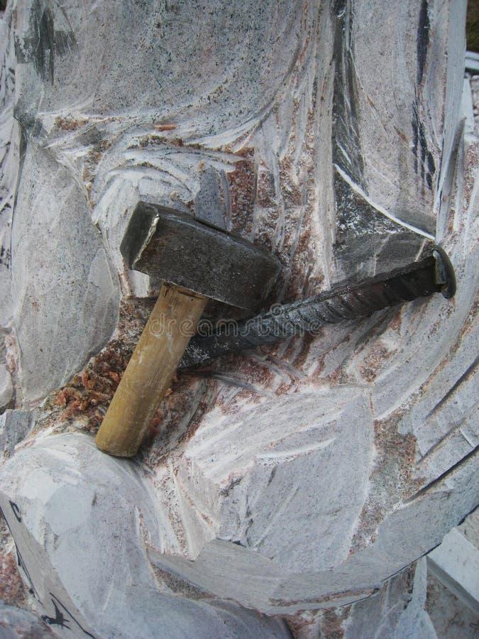 Herramientas de la escultura y del escultor del primer imagen de archivo