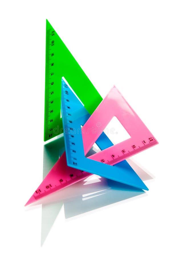 Herramientas de la geometría foto de archivo