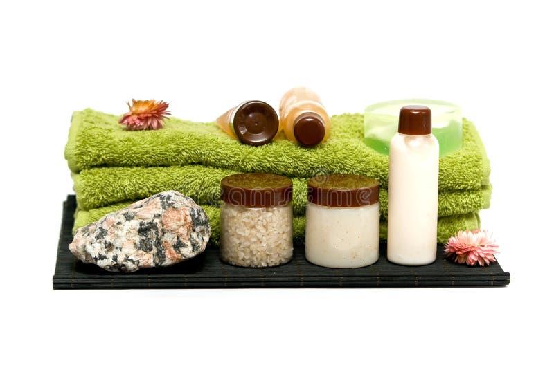 Herramientas de la higiene del balneario para el balneario imagen de archivo libre de regalías