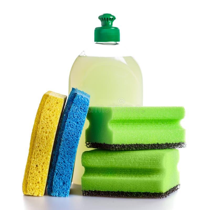Herramientas de la limpieza de la casa imagenes de archivo