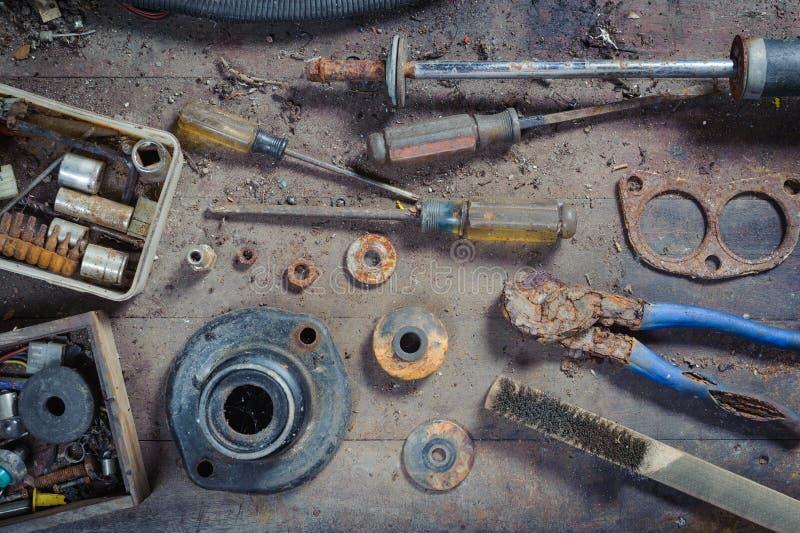 Herramientas de la mano de la ruina imágenes de archivo libres de regalías