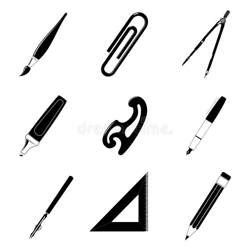 Herramientas de la oficina stock de ilustración