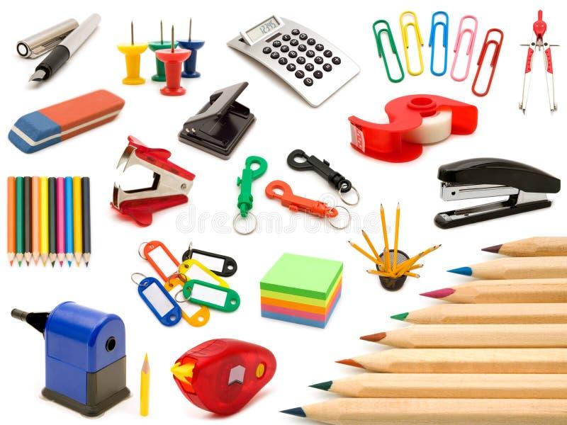 Herramientas de la oficina de la colección imagen de archivo libre de regalías