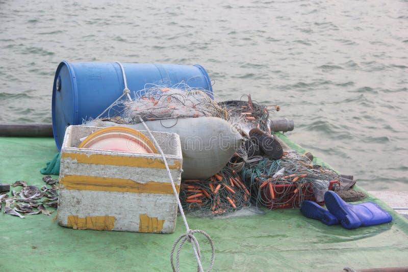 Herramientas de la pesca imagenes de archivo