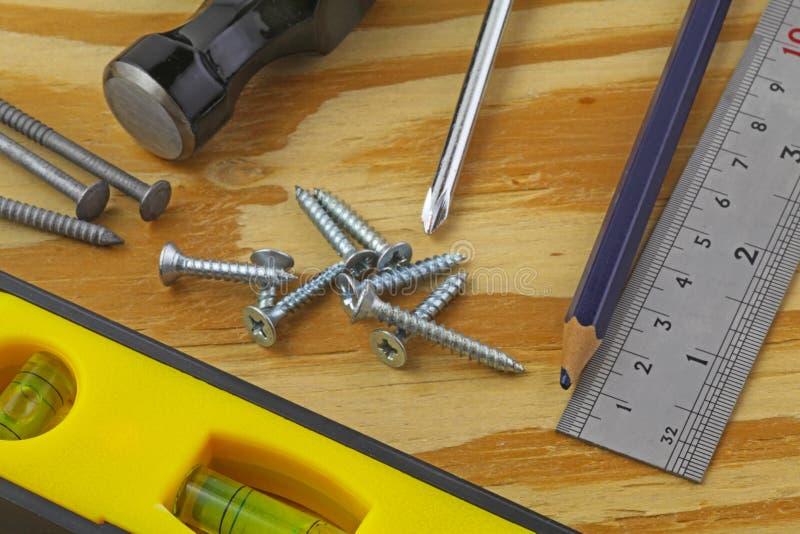 Herramientas de los carpinteros imagen de archivo