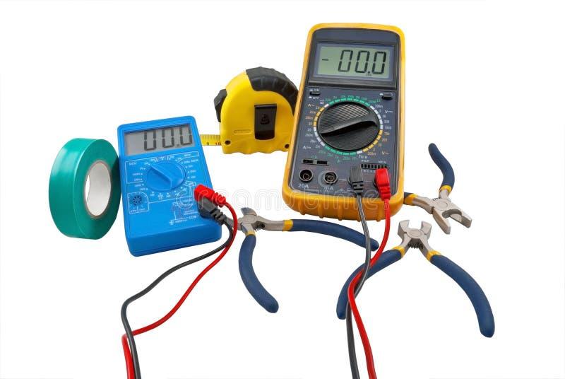 Herramientas de los electricistas fotos de archivo