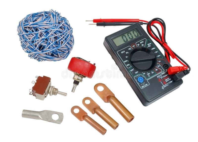 Herramientas de los electricistas fotografía de archivo