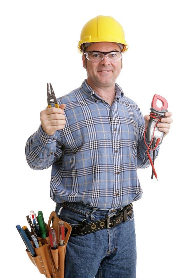 Herramientas de los electricistas imagen de archivo