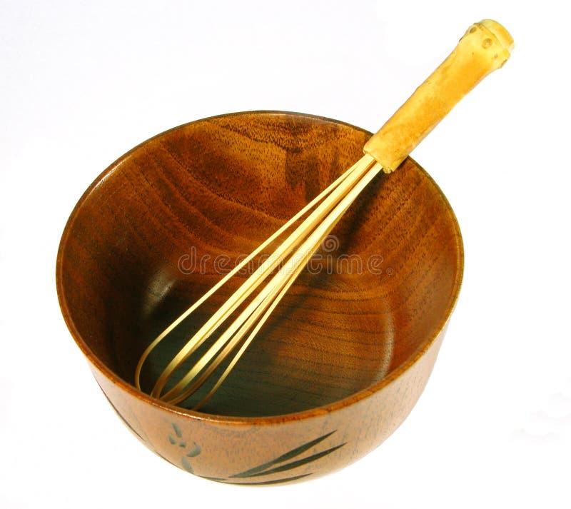 Herramientas de madera del té fotografía de archivo