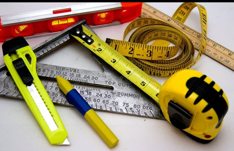 Herramientas de medición foto de archivo libre de regalías