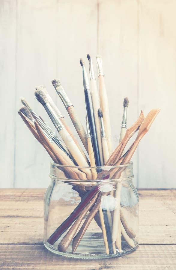 Herramientas del arte y del arte imagen de archivo libre de regalías