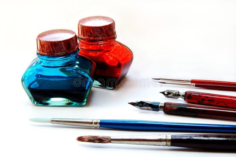 Herramientas del colorante imágenes de archivo libres de regalías
