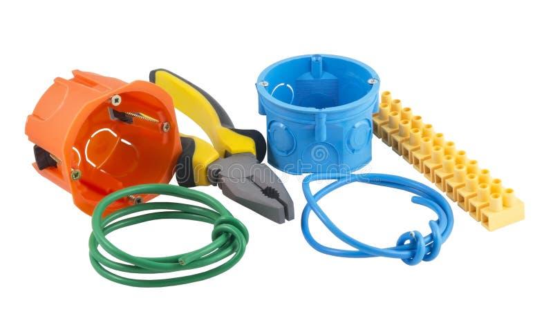 Herramientas del electricista imagen de archivo