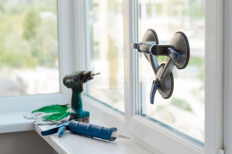 Herramientas del instalador de la ventana fotografía de archivo libre de regalías