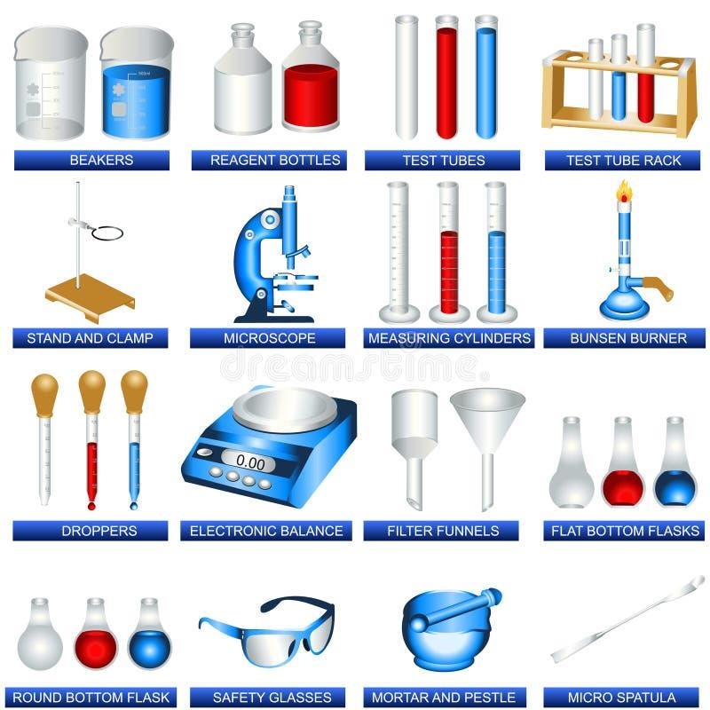 Herramientas del laboratorio stock de ilustración