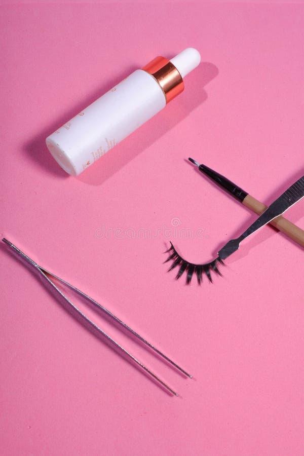 Herramientas del maquillaje de la pestaña fotos de archivo
