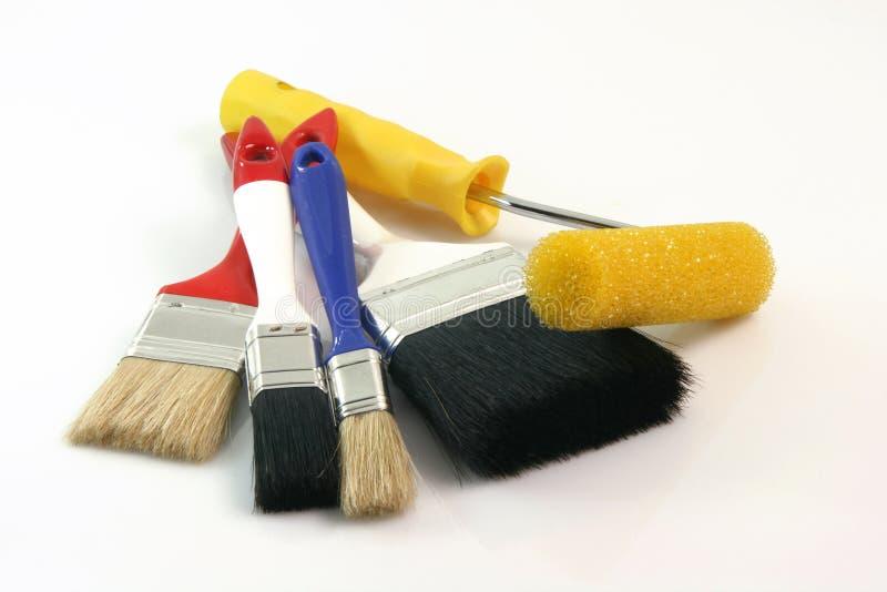 Herramientas del pintor imagen de archivo libre de regalías