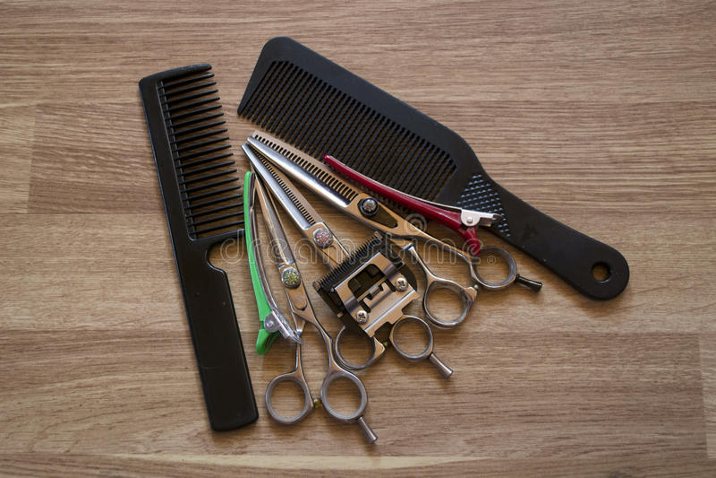 Herramientas del ` s del peluquero imagen de archivo