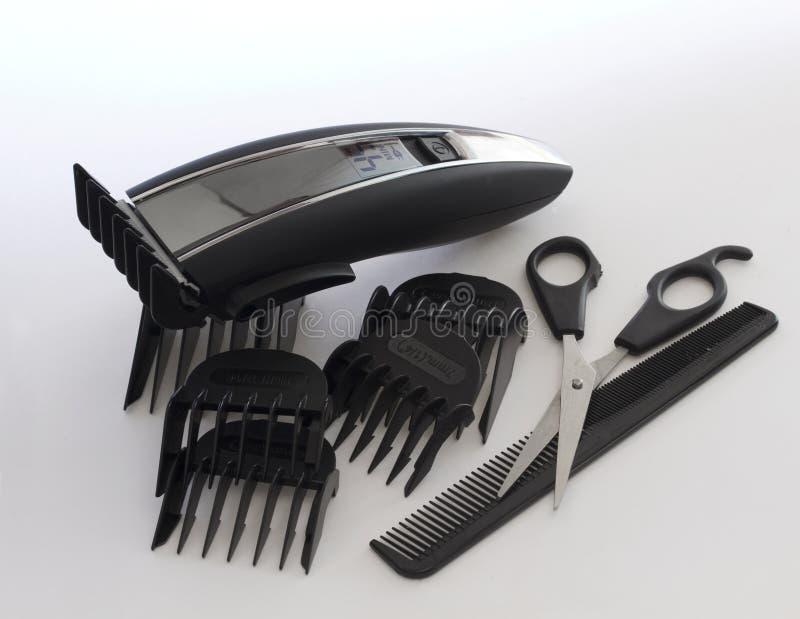 Herramientas del trabajo del peluquero imagen de archivo libre de regalías