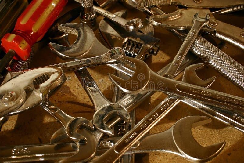 Herramientas en desorden imagen de archivo libre de regalías