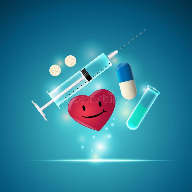 Herramientas médicas stock de ilustración