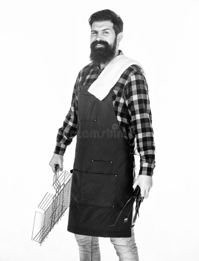 Herramientas para asar la carne al aire libre Comida campestre y barbacoa Extremidades para cocinar la carne Estaci?n de la barba foto de archivo