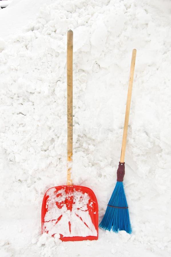 Herramientas para despejar nieve fotos de archivo libres de regalías