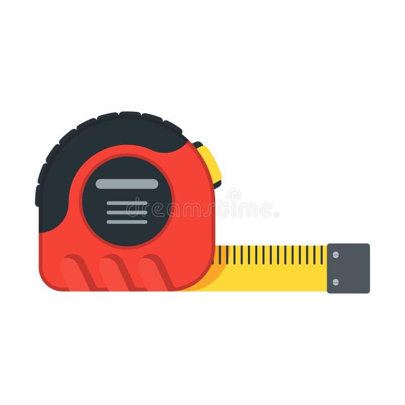 Herramientas para la cinta métrica de la reparación stock de ilustración
