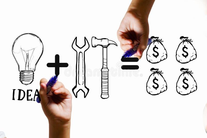 Herramientas para la fabricación del dinero foto de archivo