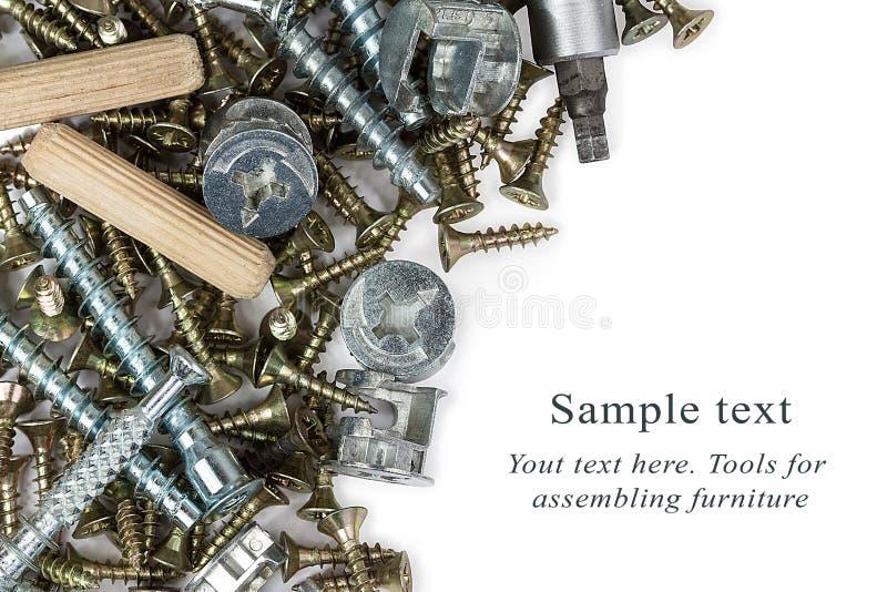 Herramientas para montar los muebles fotografía de archivo libre de regalías