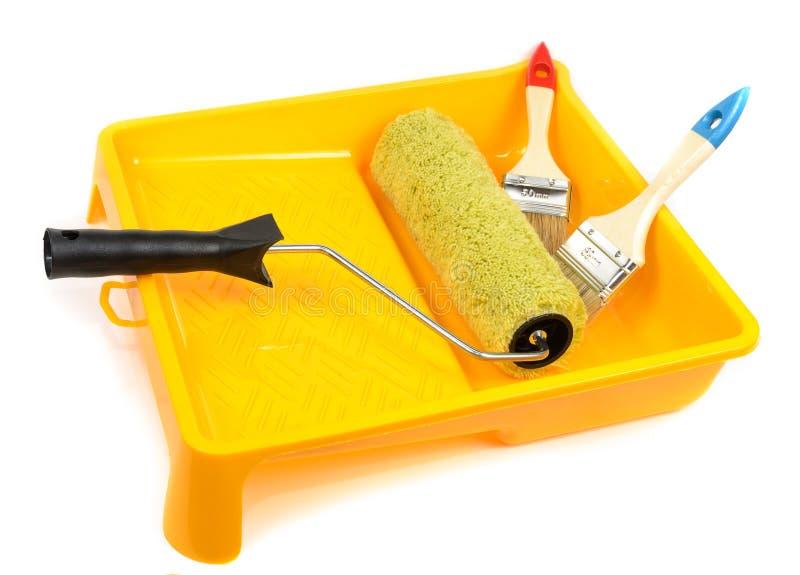Herramientas para pintar casas imagen de archivo imagen for Casas de herramientas