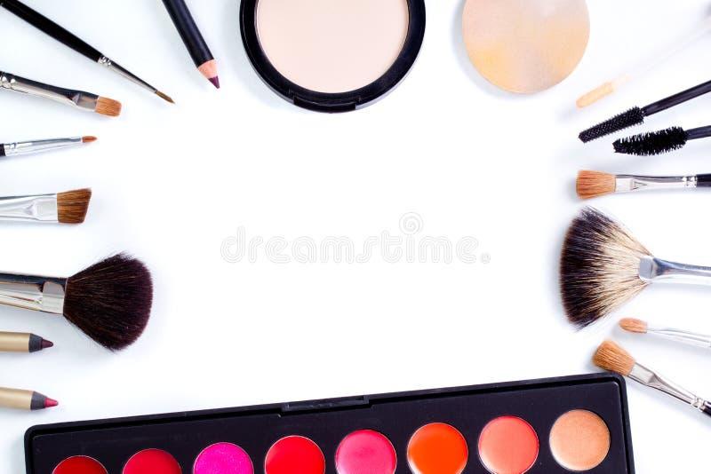 Herramientas profesionales del maquillaje imagen de archivo